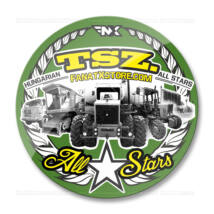 TSZ. All Stars traktoros matrica (70mm | zöld-sárga)
