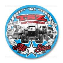 TSZ. All Stars traktoros matrica (70mm | kék-piros)