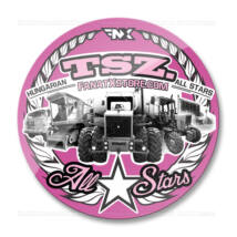 TSZ. All Stars traktoros matrica (70mm | pink)