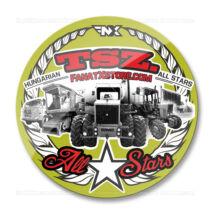 TSZ. All Stars traktoros matrica (70mm | zöld-piros)