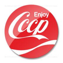 CCCP Enjoy matrica (70mm   piros)