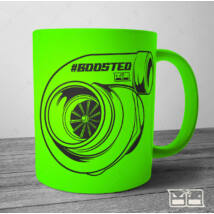 BOOSTED Bögre - turbocharged | matt | 300ml | NEON zöld