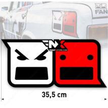 FanatX matrica (35 cm) Laminált