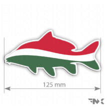 Nemzeti horgász matrica - ponty matrica, carp sticker HUN  (125mm)
