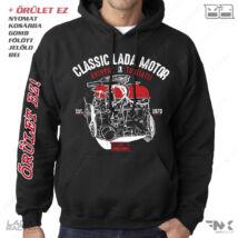 LADA MOTOR kapucnis pulóver | zsebes | belebújós