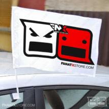 Zászló FanatX (szurkolói autós tartóval | 45x30cm)