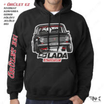 LADA 2101 Autosport - LADA kapucnis pulóver   zsebes   belebújós
