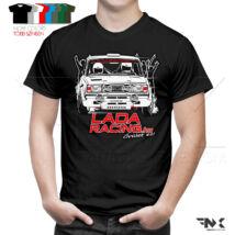 LADA VFTS póló keresztbe - Ladaracing.hu (fekete)