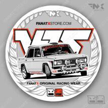 LADA VFTS 2019 racewear matrica | sticker (70mm)