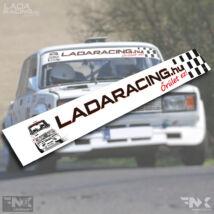LADARACING.hu szélvédő matrica - KOCKA Lada - (Fehér   1320mm)