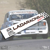 LADARACING.hu szélvédő matrica - KOCKA Lada - (Fehér | 1320mm)