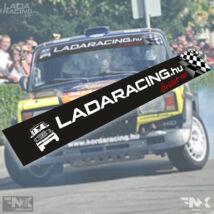 LADARACING.hu szélvédő matrica - KOCKA Lada - (Fekete   1320mm)