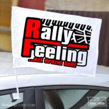 Zászló RallyFeeling.hu (autós tartóval | 45x30cm)