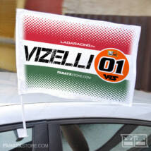 Zászló VIZELLI 01 HUNGARY (autós tartóval   45x30cm)