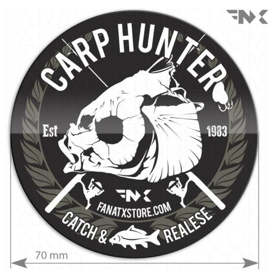 carp huner horgász matrica