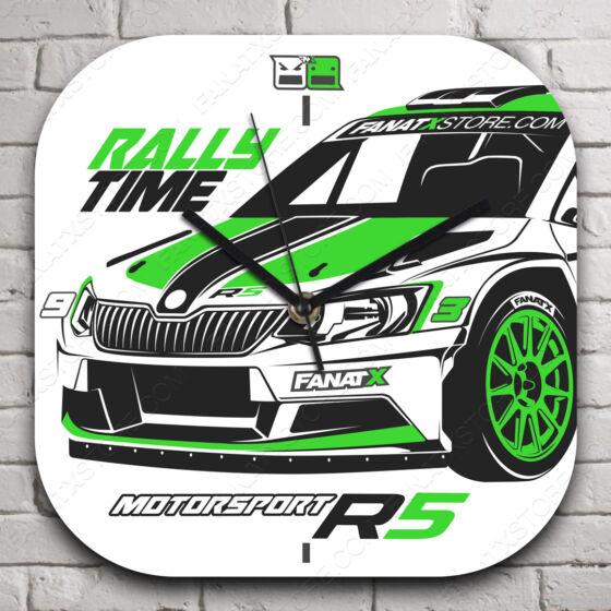 Skoda R5 rallytime falióra